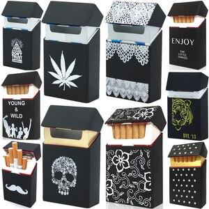 Soft Portable Silicone Cigarette Cases For 20 Cigarette Accessories Cigarette Box Gadgets For Men Gift Tabaco Case Tobacco Box(China)