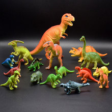 Jurassic dinosaur simulation PVC solid dinosaur model Tyrannosaurus animal set children Christmas gift 15pcs set children education poultry animal family farm feed fence simulation model animal toy christmas gift free shipping