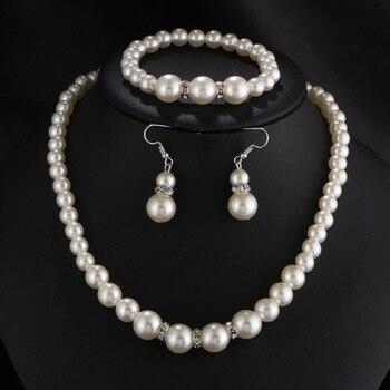 Classic White Pearl Jewelry Set 1