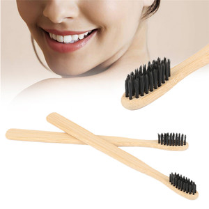 1 PCS Eco-friendly Wood Toothbrush Bamboo Toothbrushes Soft Bristles Bamboo Fiber Bamboo Handle Black Head Low-carbon for Adults