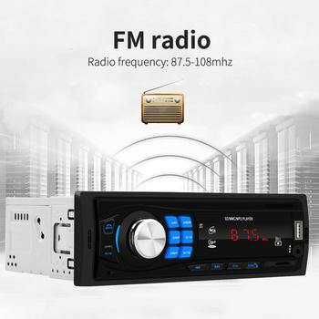 12V Car Radio FM Stereo Bluetooth Radio MP3 Player Remote Control SD USB AUX Player With Hands-free Calls & USB Flash Disk image