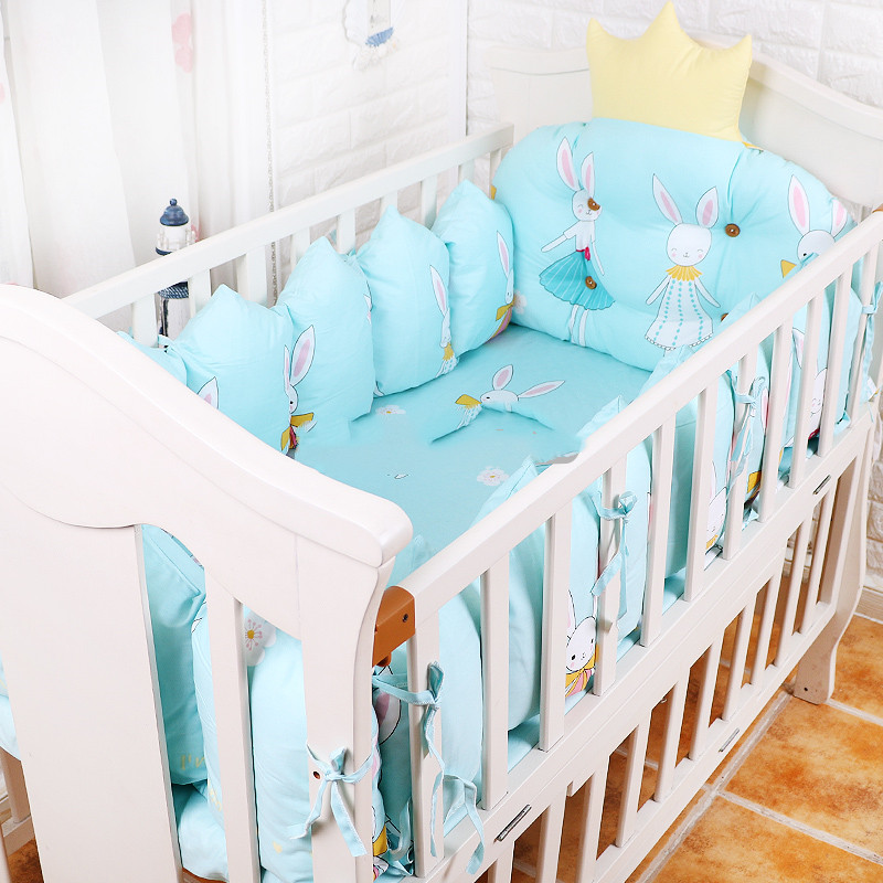 Детская кровать бампер набор 4 шт, новорожденный набор постельных принадлежностей для детской кроватки, детская кроватка вокруг подушки, де