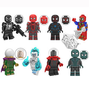Lego Compatible Figure Peter Parker Grey Hoodie Spider-Man
