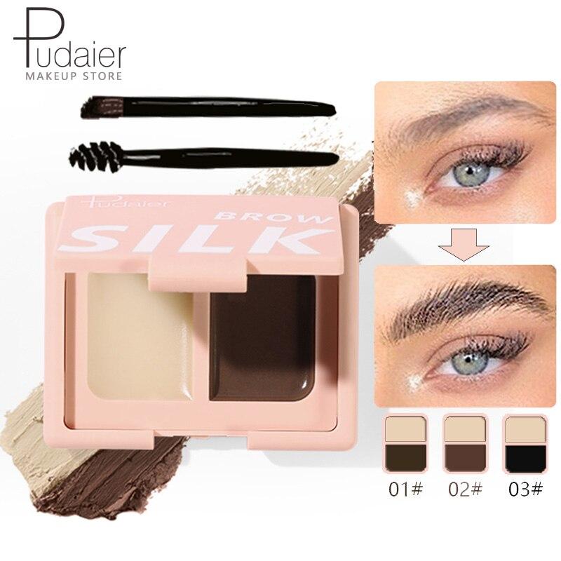 Pudaier Stying Bushy Eyebrow Gel Eyebrow Styling And Dyeing Brows Soap Natural Long Lasting Ultra Fine Eye Brow Cream Cosmetics