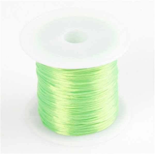393 дюйма/рулон, крепкий эластичный шнур для бисероплетения с кристаллами, 1 мм, для браслетов, стрейчевая нить, ожерелье, сделай сам, для изготовления ювелирных изделий, шнуры, линия - Цвет: Color 6