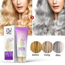 Blonde Purple Toning Hair Shampoo Gray Silver Long Lasting Dye Color Treatment