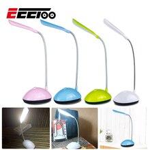 EeeToo Mini Night Light Children LED Luminaria Bedside Night Lamp Battery Powered Eye Protection Desk Table Lamp LED Book Light