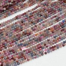 Натуральный чистый включение рубин и сапфир граненые Свободные Круглые бусины 3 мм-3,2 мм
