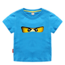 лучшая цена 2-10y 2019 fashion Summer Children's Clothing Cotton Boys Girls T-shirt Legoe Ninja Ninjago Cartoon Kids Tops Tees short sleeve