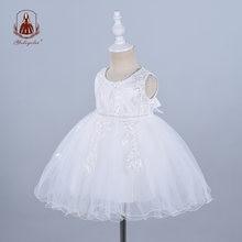 Платье yoliyolei для крещения маленьких девочек белое на 1 й