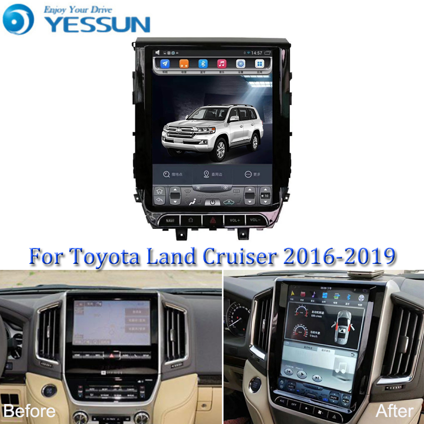 For <font><b>Toyota</b></font> <font><b>land</b></font> <font><b>cruiser</b></font> <font><b>LC200</b></font> 2016-2019 Car <font><b>Android</b></font> Tesla Style vertical screen Multimedia Video Player Car Radio GPS Navigation image