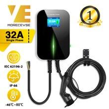 32A 1相evse wallbox ev充電器電気自動車充電ステーションタイプ2ケーブルiec 62196 2のためのアウディミニクーパースマート