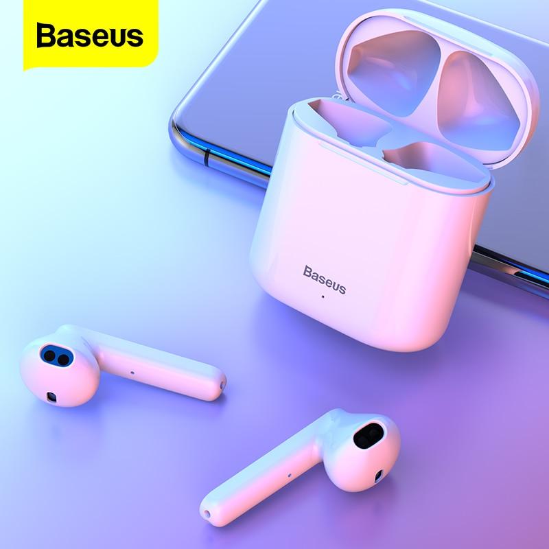 Auriculares Bluetooth inalámbricos Baseus W09 TWS, Auriculares Bluetooth 5,0, auriculares inalámbricos para iPhone 12 Pro Xiaomi