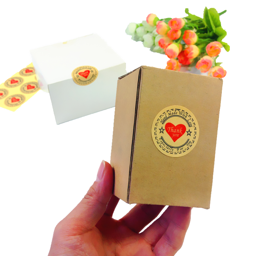 120pcs/pack Multiple Styles and Various shapes Tape Thank You Packaging Label Material Supplies Sealing Stickers 4