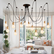 Wooden Color High Quality Level Small Pendant-Lights Room-Decor Wood Nordic-Design Dinning E27 Led