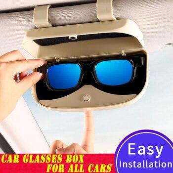 Car Sun visor Glasses Box Storage Holder...