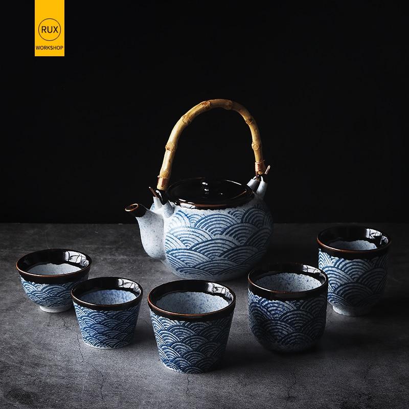 RUX WORKSHOP Japanese Style Household Teapot Ceramic Tea Cup Water Cup Restaurant Tea Pot