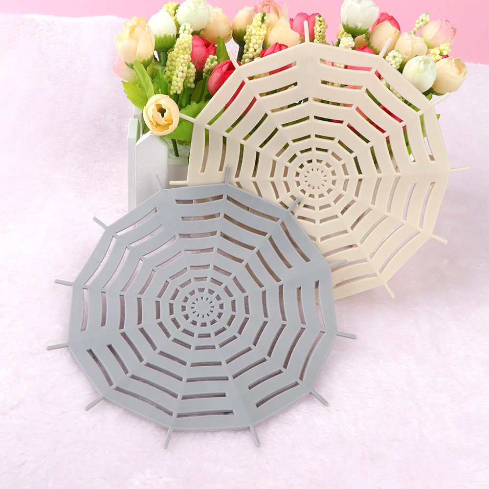 1Pc Kitchen Silicone Spider Web Sink Filter Sucker Floor Strainer Shower Hair Sewer Drain Bathroom Accessories