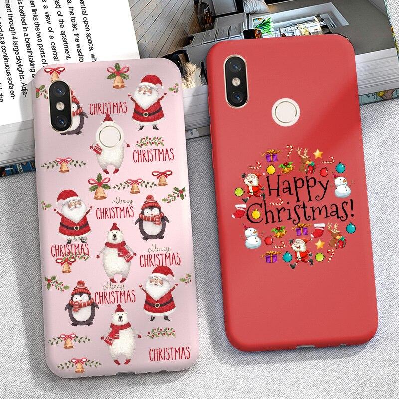 Christmas Cartoon Redmi Note 8 PRO Case Silicone Cover FOR Xiaomi Redmi Note 7 6 PRO 5 Plus 5A 6A 7A 8A Mi 8 Lite K20 9T A3 A2