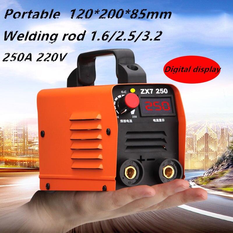 Tragbare Mini schweißer ZX7 250A 250V Kompakte Mini MMA Schweißer Inverter ARC Schweißen Maschine Stick Schweißer
