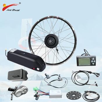 """Kit de conversión eléctrica de 36V, 350W/500W con motor de batería de 12a/15a/18a/21a """"Hailong"""", rueda, bicicleta eléctrica"""