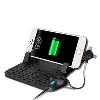 Remax suporte do telefone do carro ajustável 2in1 conector magnético cabo de carregamento para o iphone 5S 6 s 7 8plus xiaomi samsung montagens usb tipo c