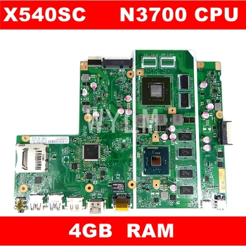 X540SC N3700 CPU 4GB RAM N15V-GL1-KB-A2 mainboard REV 2.0 For ASUS X540S X540SC laptop motherboard 90NB0C10-R00010 Free Shipping