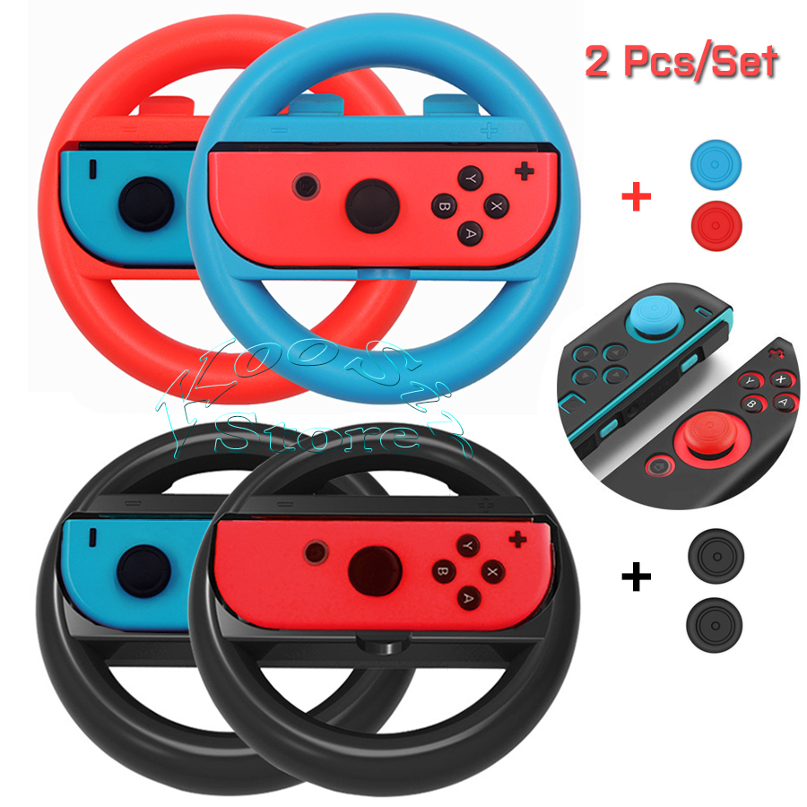 2 pcs Nintendos Nintend Switch Joy con Controller Racing Steering Wheel Nintendoswitch Handle Grips for Nitendo Switch Games image