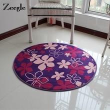 Zeegle жаккардовый круглый напольный ковер с принтом для гостиной, противоскользящие ковры для детской комнаты, коврики для детских игр, коврики для детской комнаты