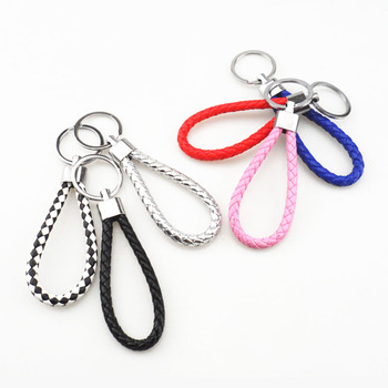 New Manual key braided rope keychain car chain braided rope keychain for BMW all series 1 2 3 4 5 6 7 X E F-series E46 E90 X1 X3 image