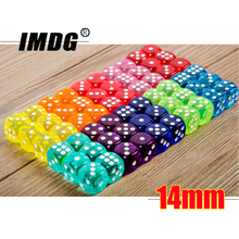 Boutique Game-Dice Acrylic Round-Corner Transparent Colors High-Quality 10pcs/Pack