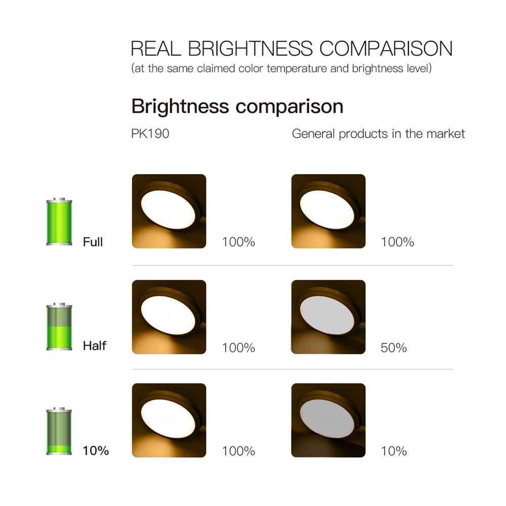 LED rechargeable par usb lampe de bureau Flexible col de cygne tactile gradation lampe de Table pince sur lampe pour livre lit et ordinateur 3 Modes de couleur