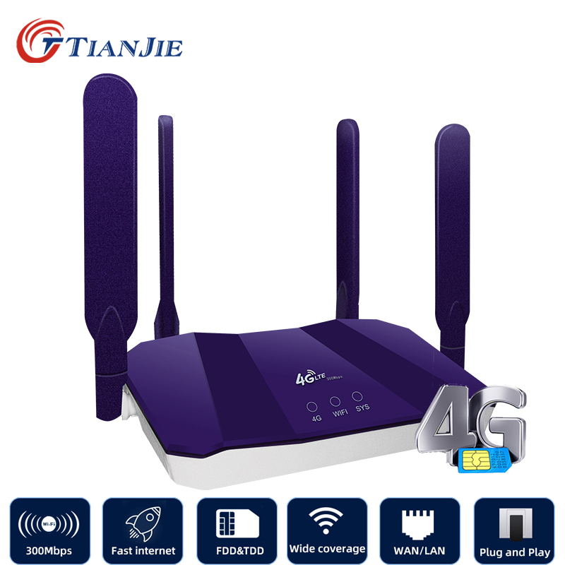 TIANJIE 4g Router Wifi Wi Fi Modem Wi-fi Lte Access Point Mobile Cpe antenna Hotspot Outdoor Bridge With A Sim Card Slot