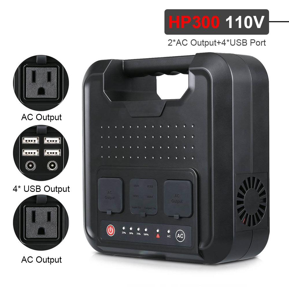 200 W/300 W Portable Solar Generator Voeding met Inverter USB LCD Display Energie Opslag Generatie voor Outdoor thuis Auto - 4
