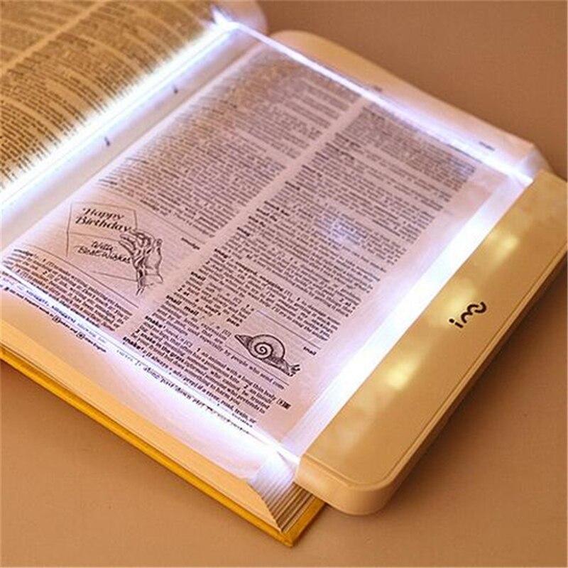 LED Book Light PMMA Flat Panel Reading Lamp For kid Car Travel Reading Flat Plate Lamp Magic Night Vision Light Battery Operate