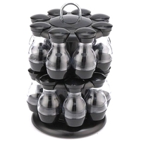 16Pcs Condiment Set 360 Rotating Spice Jar Rack Kitchen Cruet Condiment Bottle Coffee Sugar Seal Jar Container Castor|Racks & Holders| |  -