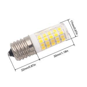 Image 5 - E17 LED لمبة إضاءة للميكروويف 6 واط التيار المتناوب 110/220 فولت 2835 SMD السيراميك يعادل 60 واط المتوهجة سيرامي الدافئة/الباردة الأبيض 10 حزمة