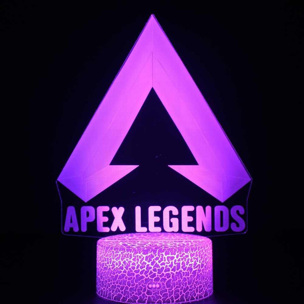 Crianças led night light apex lendas herói figura nightlight para o quarto da criança wraith pathfinder octane mirage lifeline noite lâmpada