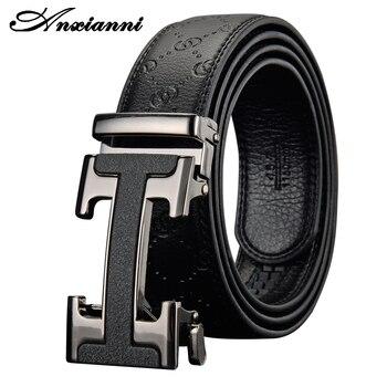 Anxianni male leather belt designer belt male high-quality men's belt men's luxury automatic buckle belt unisex fashion belt belt matilde costa belt