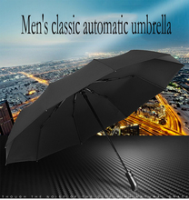 Fashion Tri-fold Folding Automatic Umbrella Ladies Sunscreen 10 Bones Mens Weatherproof Portable