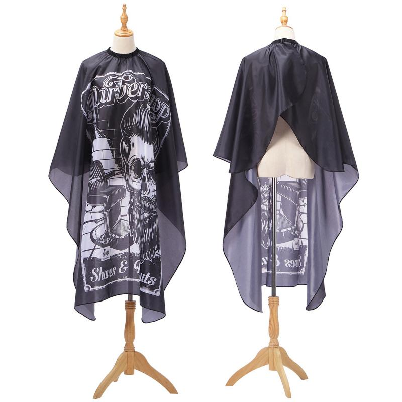 2019 Haircut Hairdressing Barber Cloth Skull Man Pattern Apron Polyester Cape Hair Styling Design Supplies Salon Barber Gown(China)