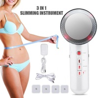 3 in1 Far Infrared EMS Ciliometer Body Massager Body Beauty Skin Care Thin Face Body Slimming Massager Weight Loss Vibration
