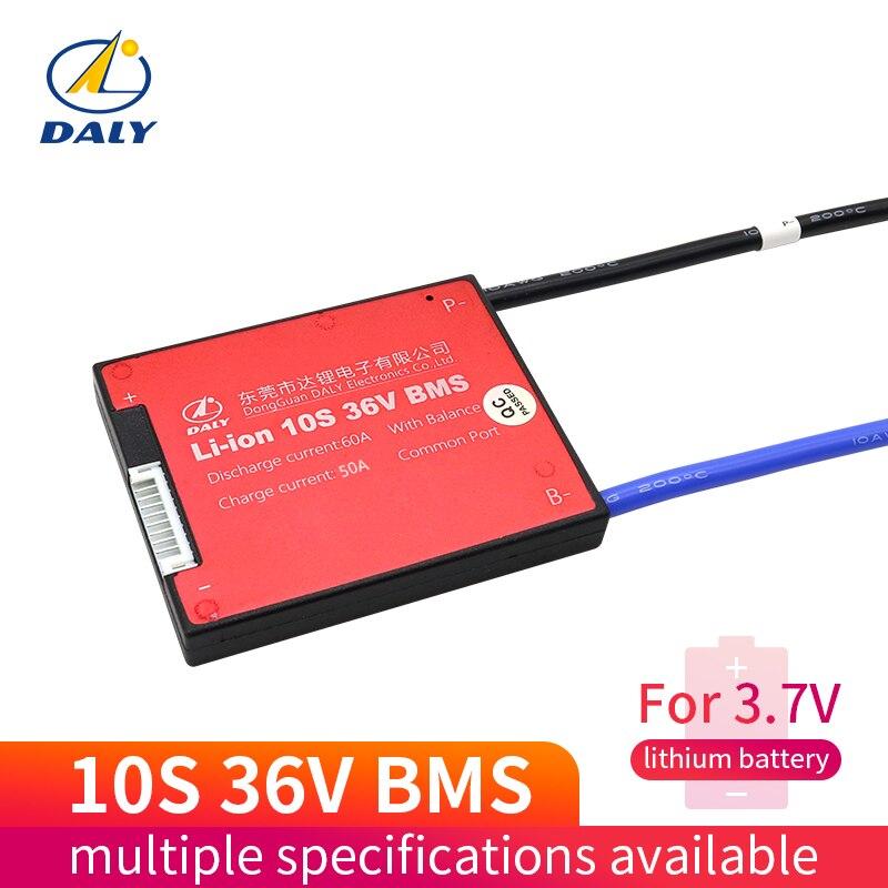 Paquete de baterías Daly bms 10S 36V 15A 20A 30A 40A 60A BMS utilizado para 36v 10ah 35ah 60ah batería 60A continua con función de equilibrio