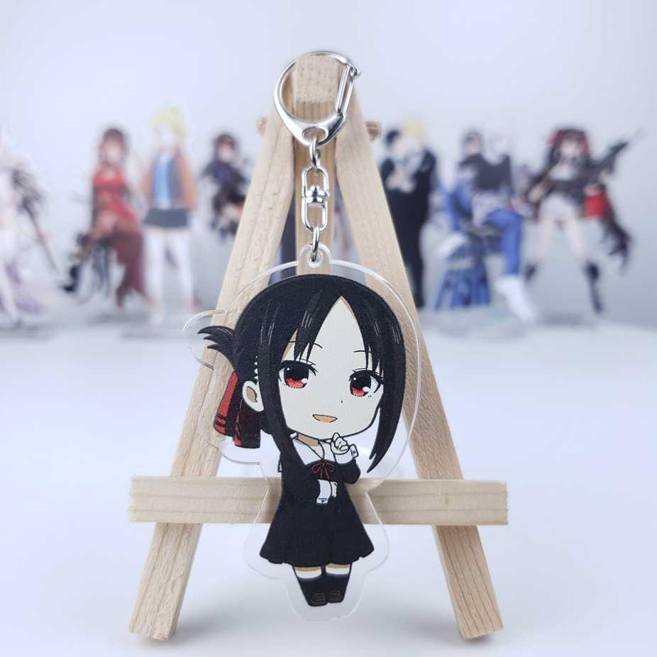 Anime Kaguya-Sama: cinta Adalah Perang Kaguya Shinomiya Chika Fujiwara Cosplay Acrylic Figure Model Gantungan Kunci Tas Liontin Gantungan Kunci Hadiah