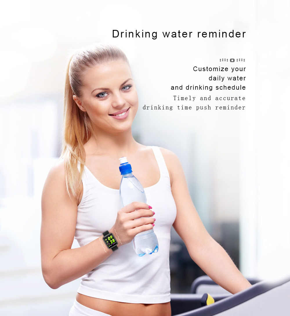 Мужской умный браслет с цветным экраном, пульсометр, кровяное давление, мониторинг здоровья, Bluetooth, водонепроницаемый фитнес-трекер, спортивные часы