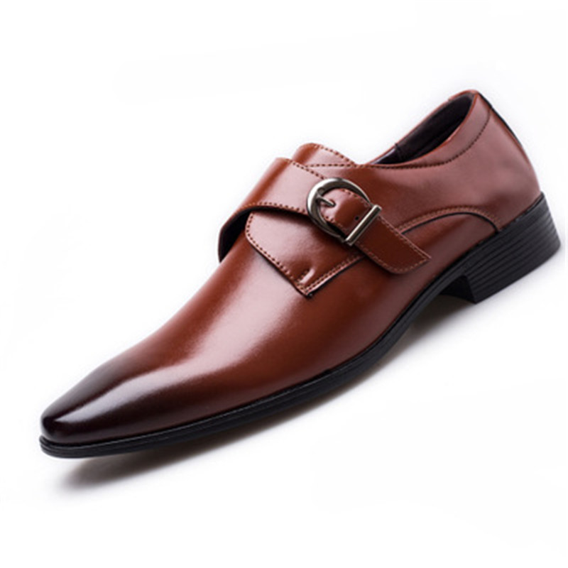 Image 3 - Size 45 46 47 48 Men Business Dress Shoes Retro Patent Leather Oxford Shoes For Male Stylish Elegant Metal Buckle Wedding ShoesFormal Shoes   -
