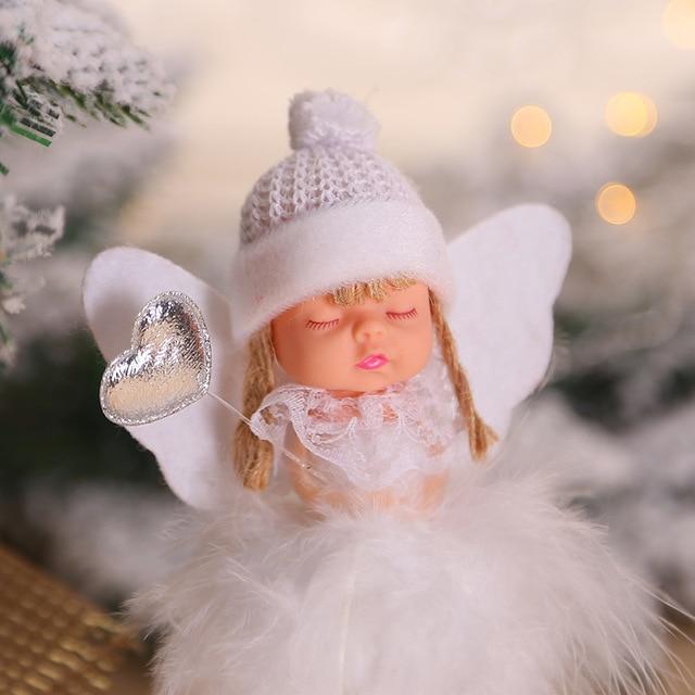 2020 New Year Latest Christmas Angel Dolls Cute Xmas Tree Ornament Noel Deco Christmas Decoration for Home Navidad 2019 Kid Gift 4