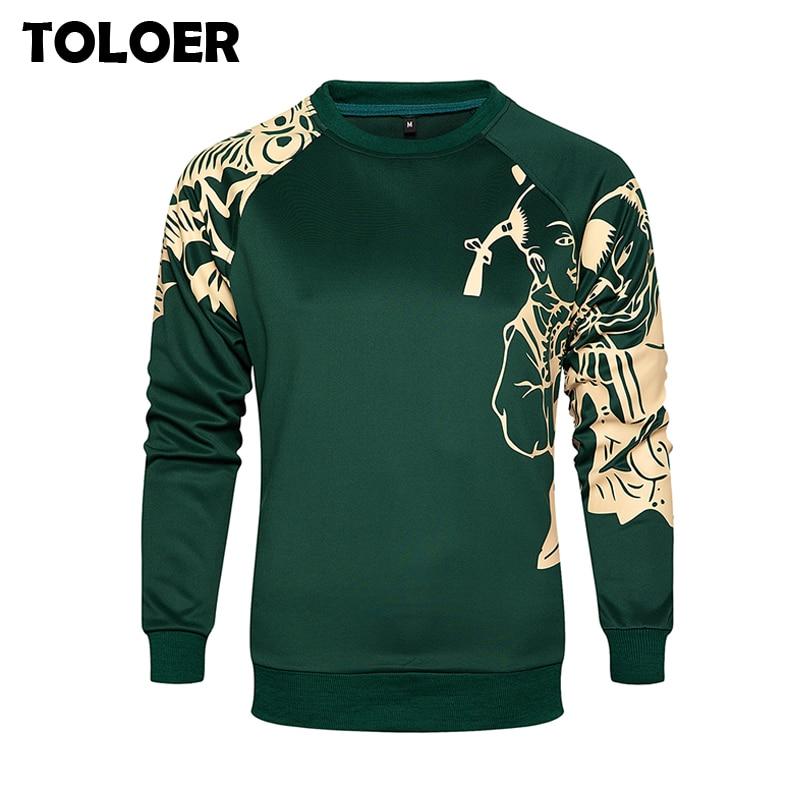 EU Size Sketch Print Hoodies Men''s Thicken Clothes Autumn Winter Sweatshirts Men Hip Hop Streetwear Solid Fashion Man Warm Hoody
