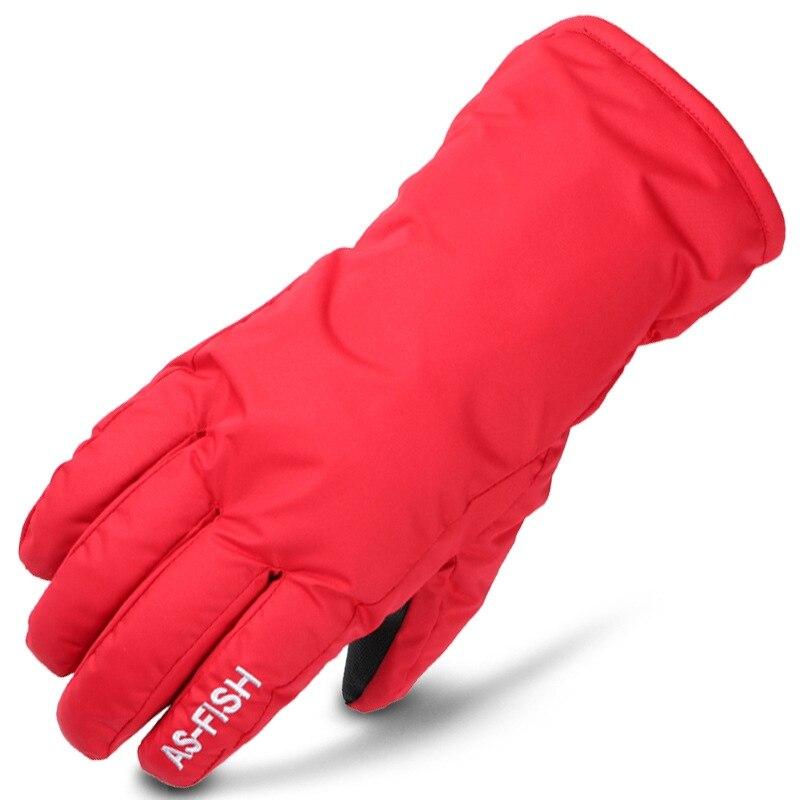 Kids Ski Gloves Anti-slip Waterproof Fleece Warm  Motorcycle Snowmobile Riding Gloves