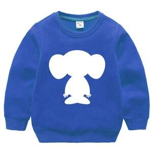 Синий свитшот; Детские топы для мальчиков и девочек; Одежда для малышей; Сезон осень-весна; От 2 до 8 лет с длинными рукавами и рисунком мышки